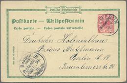 Deutsche Auslandspostämter + Kolonien: 1896/1906, Lot Von Sieben Gebrauchten Ganzsachen, Dabei Kamer - Allemagne