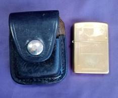 Zippo Lighter In Original Leather Case - Zippo