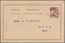 Deutsche Kolonien: 1905/1915, Kleine Nette Partie Mit Vier Ganzsachen, Dabei Britische Besetzung Sam - Allemagne
