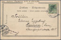 Deutsche Kolonien - Kiautschou: 1897/1914, Slg. Ganzsachen/Bahnpost/AK Mit Gs. (10 Inc. *), Bf. (1), - Colonie: Kiautchou