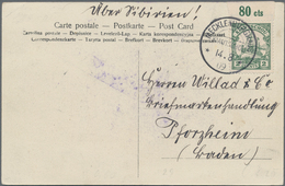 Deutsche Kolonien - Kiautschou: 1898/1912 (ca.), Rd. 40 Belege Mit Ganzsachen, Feldpost, Vorläufern, - Colonie: Kiautchou