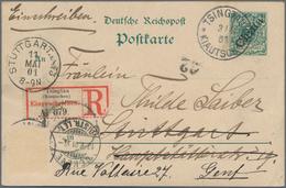 Deutsche Kolonien - Kiautschou - Ganzsachen: Fünf GANZSACHEN-Karten 5 Pf. Krone/Adler Mit Schrägem A - Colonie: Kiautchou