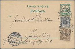 Deutsche Kolonien - Kiautschou - Ganzsachen: 1898/1909, Kiautschou/Dt.Post In China, Lot Von Acht Ge - Colonie: Kiautchou