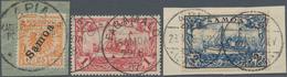 Deutsche Kolonien - Samoa: 1900/1901, Saubere Gebrauchte Sammlung Mit Besseren Werten, Zumeist Brief - Colonie: Samoa