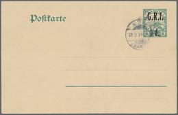"""Deutsche Kolonien - Samoa - Britische Besetzung - Ganzsachen: 1914, """"G.R.I.""""-Aufdrucke, Alle Vier Ve - Colonie: Samoa"""