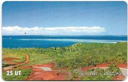 New Caledonia - OPT - Route De Port Boisé, Gem1A Symmetr. Red, 01.2001, 25Units, 50.000ex, Used - New Caledonia