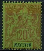 Mayotte (1892) N 7 * (charniere) - Ungebraucht