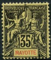 Mayotte (1900) N 18 * (charniere) - Neufs