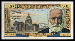 500F Victor Hugo  04.08.55 - V 72 - TTB - Fay : 35.5 - 1871-1952 Antichi Franchi Circolanti Nel XX Secolo