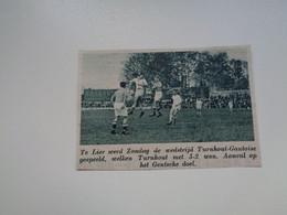 """Origineel Knipsel ( 7016 ) Uit Tijdschrift """"  De Stad """" 1936 : Voetbal  Football   Turnhout -  Gantoise - Non Classés"""