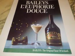 PUBLICITE  EUPHORIE DOUCE  BAILEYS 1980 - Alcohols