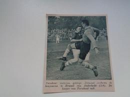 """Origineel Knipsel ( 7020 ) Uit Tijdschrift """"  De Stad """" 1936 : Voetbal  Football   Turnhout  - Anderlecht - Non Classés"""