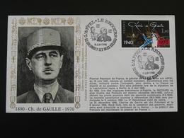 Lettre Commemorative Cover Appel Du 18 Juin General De Gaulle Colombey 52 Haute Marne 1988 - De Gaulle (Général)