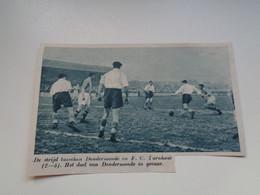 """Origineel Knipsel ( 7022 ) Uit Tijdschrift """"  De Stad """" 1936 : Voetbal  Football   Dendermonde -  F. C.  Turnhout - Non Classés"""