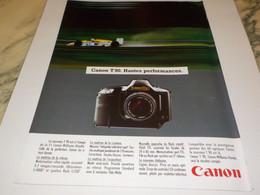 ANCIENNE PUBLICITE HAUTE PERFORMANCE CANON 1982 - Fotografía