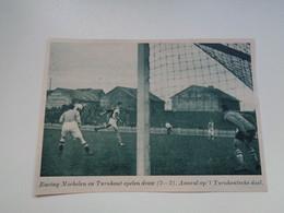 """Origineel Knipsel ( 7023 ) Uit Tijdschrift """"  De Stad """" 1936 : Voetbal  Football   Racing Mechelen -   Turnhout - Non Classés"""