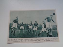 """Origineel Knipsel ( 7024 ) Uit Tijdschrift """"  De Stad """" 1936 : Voetbal  Football  Antwerp -   Turnhout - Non Classés"""