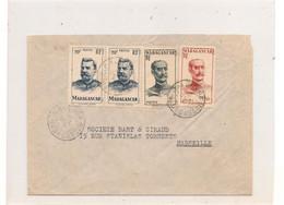 15 OCT 46 ENVELOPPE DE MAJUNCA POUR MARSEILLE - Madagascar (1889-1960)