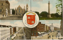 IRELAND  CO LIMERICK  LIMERICK  MULTI VIEW AND HERLADIC CREST - Limerick
