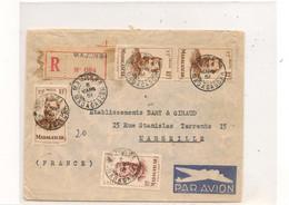5 MARS 51 ENVELOPPE DE MAJUNGA POUR MARSEILLE - Madagascar (1889-1960)