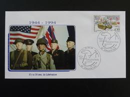 Lettre Commemorative Cover 50 Ans De La Libération Argentan 61 Orne 1994 - 2. Weltkrieg