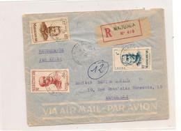 19 OCT 51 ENVELOPPE DE MAJUNGA POUR MARSEILLE - Madagascar (1889-1960)
