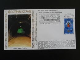 Lettre Commemorative Cover Forteresse De Mimoyecques Flamme Concordante Déportation Marquise 62 Pas De Calais 1997 - WW2