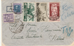 LETTERA 1938 10+10 AFRICA ORIENTALE +25 ERITREA +1,25 ERITREA +SEGNATASSE 50 TIMBRO DESSIE SIENA (KP103 - Africa Oriental Italiana