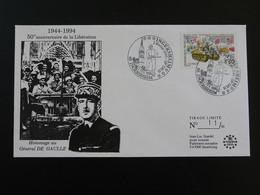 Lettre Commemorative Cover General De Gaulle Libération Ingersheim 68 Haut Rhin 1995 - WW2