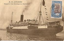 S.S. ANGERS ,Paquebotsdes Messageries Maritimes,Timbre Somali ,Djibouti, - Passagiersschepen