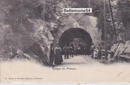 Cpa Suisse - Gorges Du Pichoux (belle Animation - Circulé En 1902 - Voir Scan Recto-verso) - JU Jura