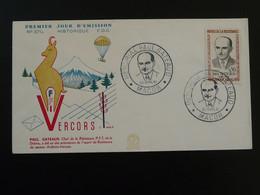 Lettre FDC Cover Paul Gateaud Résistance PTT Vercors Macon 71 Saone Et Loire 1961 - Guerre Mondiale (Seconde)