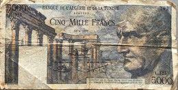 5000 Francs - Banque De L'Algérie Et De La Tunisie - 12.06.1952 - Algeria