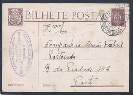 Postal Stationery Da Companhia União Fabril Portuense. Cerveja Cristal. Laranjada Invicta. Oliveira, Caldas De Moledo. R - 1910-... République