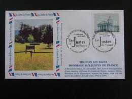 Lettre FDC Cover Justes De France Thonon Les Bains 74 Haute Savoie 2007 - Judaísmo