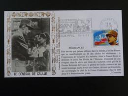 Lettre Commemorative Cover Général De Gaulle Flamme Concordante Meaux 77 Seine Et Marne 2001 - De Gaulle (Général)