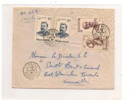 15 JUIN 51 ENVELOPPE DE SAMBAVA POUR MARSEILLE - Madagascar (1889-1960)