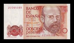 España Spain 200 Pesetas Leopoldo Alas Clarín 1980 Pick 156 SC UNC - [ 4] 1975-… : Juan Carlos I