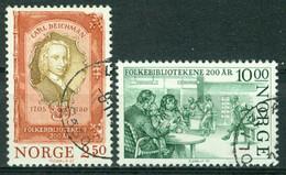 Bm Norway 1985 MiNr 934-935 Used | Bicentenary Of Public Ubraries - Gebraucht