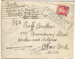 SEGUNDA REPUBLICA CC A USA CON MARCAS DE ENCAMINAMIENTO DENTRO DE UN EDIFICIO 1936 - 1931-50 Lettres