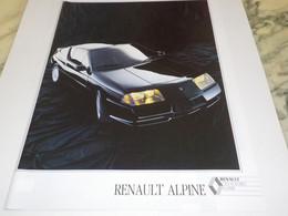 ANCIENNE PUBLICITE RENAULT ALPINE  1980 - Voitures