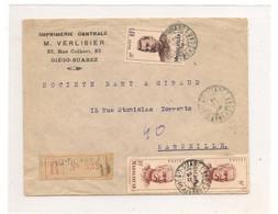 14 MAI 58 ENVELOPPE DE DIEGO-SUAREZ POUR MARSEILLE - Madagascar (1889-1960)
