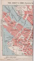 Touristen Plan Bennett's  1904 Bergen (Norge)  Informations Pubs Photos ... Travel Folder 5 Sheets Recto Verso - Geographical Maps