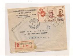 7-2-1955 ENVELOPPE DE DIEGO-SUAREZ POUR MARSEILLE - Madagascar (1889-1960)