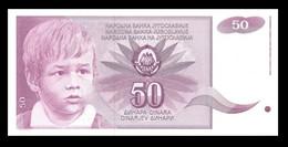 YUGOSLAVIA 104a - 50 Dinara 1990 UNC No Number ! - Yugoslavia