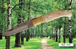 Couteau Laguiole Bougna , Manche Os Bovin Avec Son étui Cuir - Knives/Swords