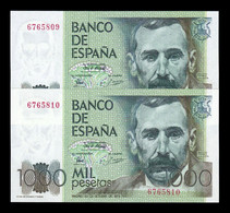 España Pareja 1000 Pesetas Pérez Galdos 1979 Pick 158 Sin Serie EBC XF - [ 4] 1975-… : Juan Carlos I
