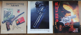 Lot De 3 Catalogues SMITH & WESSON, RUGER Et THOMPSON ARMS - Catalogues