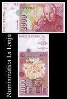 España Spain 2000 Pesetas Celestino Mutis 1992 (1996) Pick 164 SC UNC - [ 4] 1975-… : Juan Carlos I