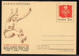 POLAND 1982 OLYMPIANS DAY PC MINT OLYMPIC GAMES 1956 MELBOURNE OLYMPICS ELZBIETA DUNSKA-KRZEMINSKA LONG JUMP ATHLETICS - Summer 1956: Melbourne